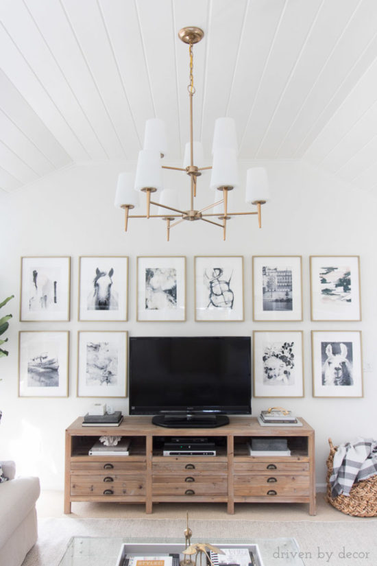 Driven By Decor Living Room, Benjamin Moore Cloud White, best favorite white paint colors from Benjamin Moore