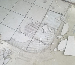 how to remove tile flooring FI