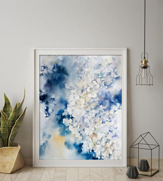 hydrangea watercolor, watercolor paintings