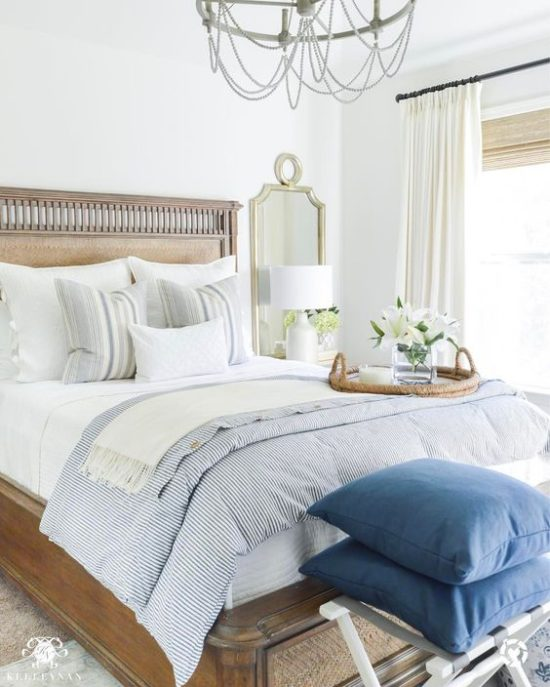 neutral cottage bedroom from Kelley Nan