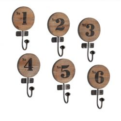 numbered wall hooks