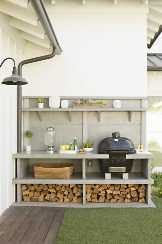 DIY outdoor grilling station