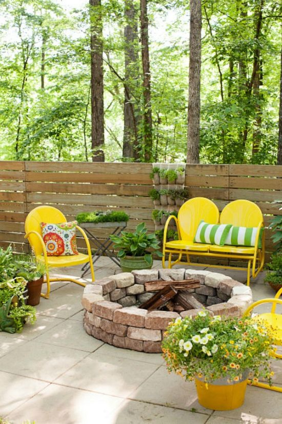 diy outdoor firepit, diy garden ideas