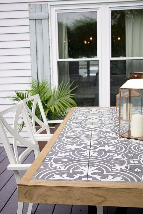 diy outdoor table ideas seeking lavender lane