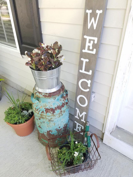 wooden sign, welcome sign, DIY