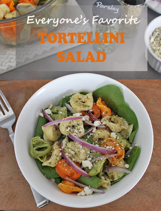 Pasta Salad Recipes to feed a crowd, easy tortellini salad