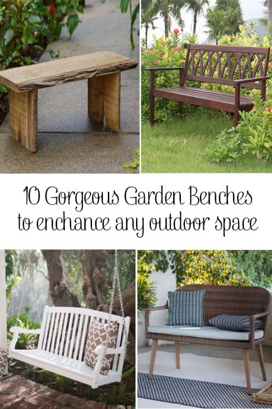 Garden Benches are the most versatile piece of outdoor furniture. See our 10 favorites!
