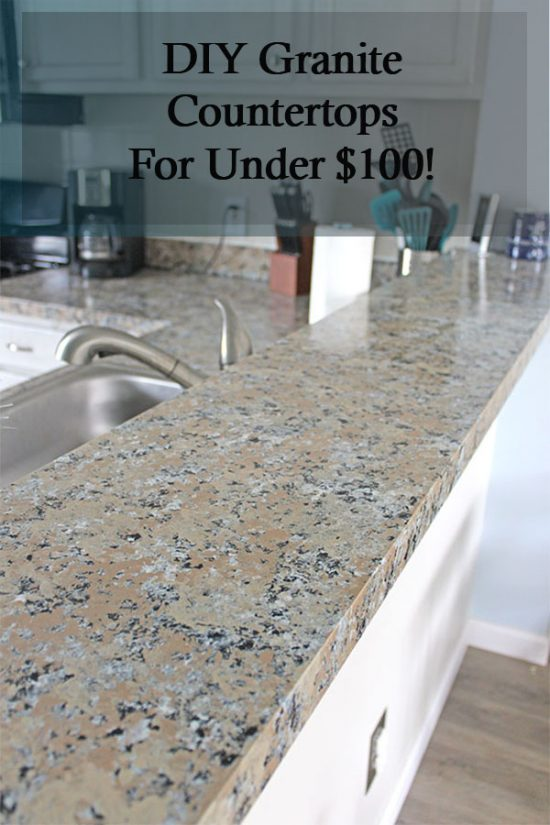 How to DIY your own granite countertops!! Budget kitchen decorating
