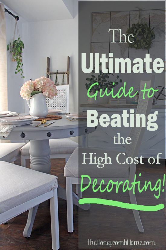 This free eBook will show you how to decorate beautifully on a shoestring budget - grab your copy now! PIN cheap decorating ideas