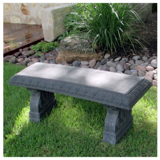 curved back bench, outdoor bench, garden benches