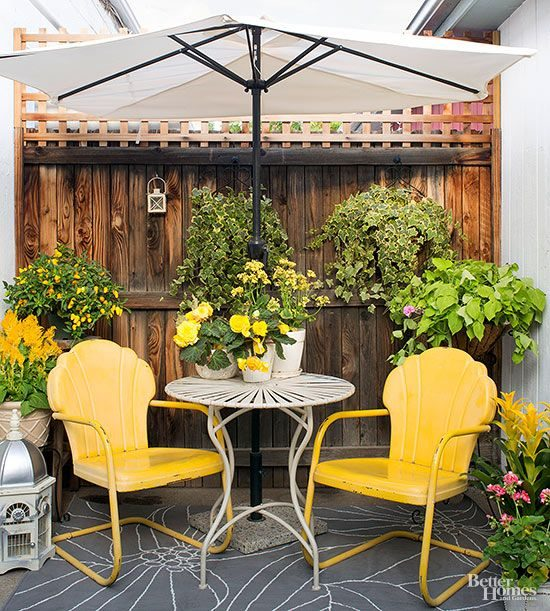vintage patio furniture, antiques in the garden