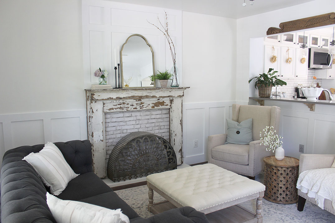 How-to-Install-Board-and-Batten,-woodwork-over-fireplace
