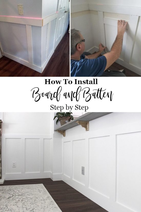 How to Install board and batten step by step guide PIN