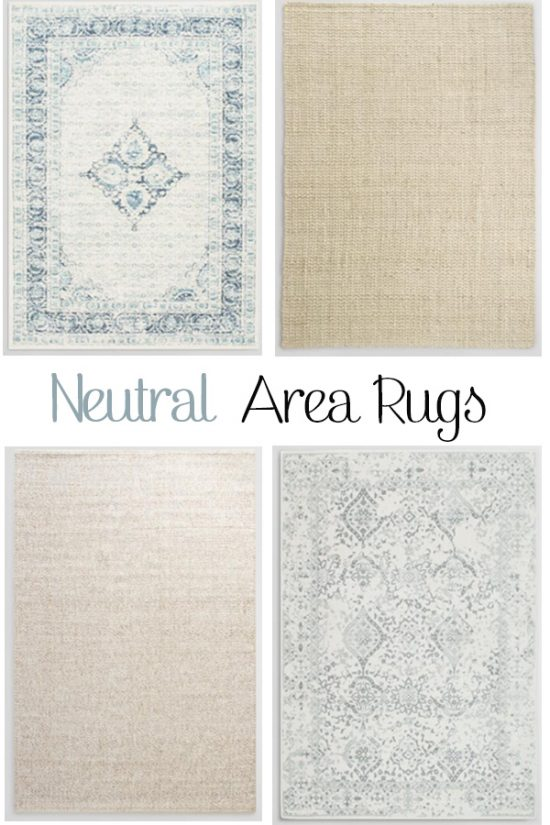 Want an area rug that will stand the test of time? These neutral area rugs are a classic choice for your living room or bedroom.