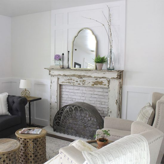 board-and-batten-over-fireplace-living-room-ideas, white living room ideas