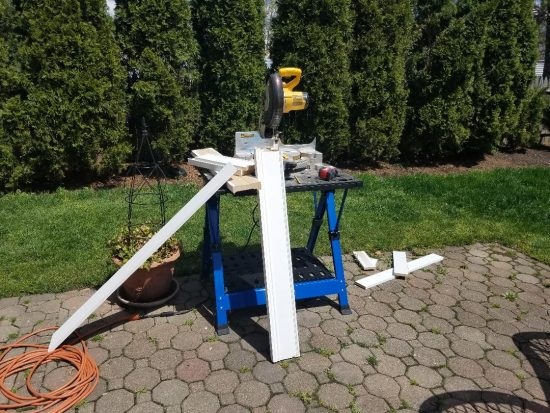 chop saw, portable work bench