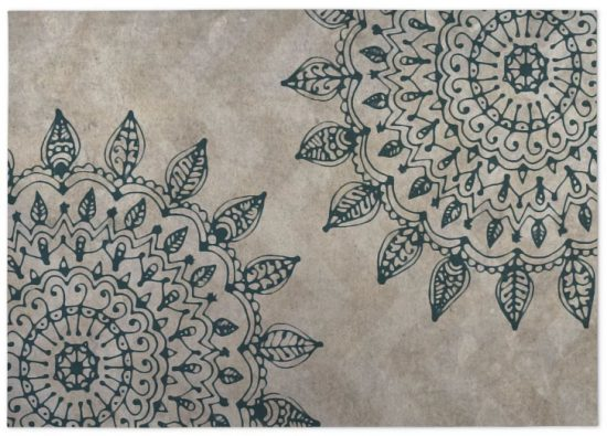 patterned indoor outdoor area rug boho style