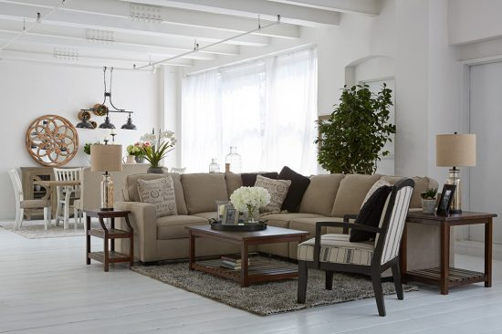 AlenyaSectional mane and mason modern farmhouse ashley furniture