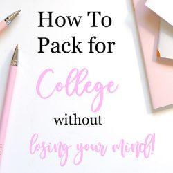 How to pack for college FI