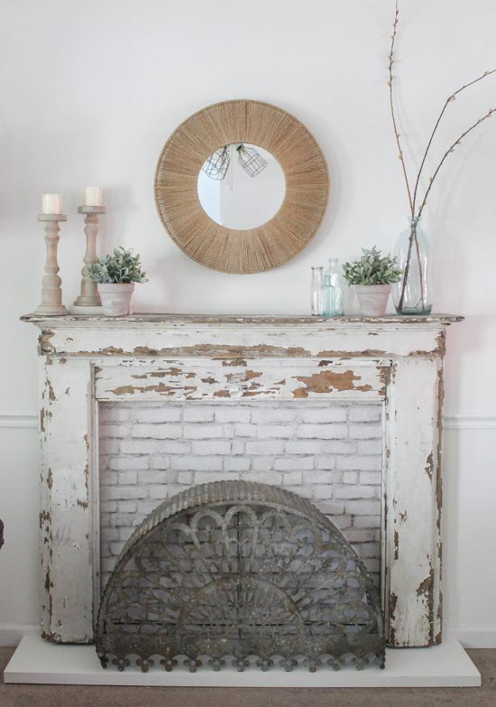Vintage Mantel DIY THe Honeycomb Home
