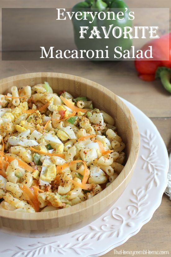 The best Macaroni Salad Recipe. This simple and delicious recipe is great for Summer BBQ's and casual parties.