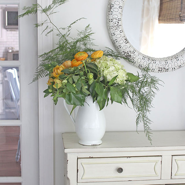 fall-floral-arrangement, fall home tour
