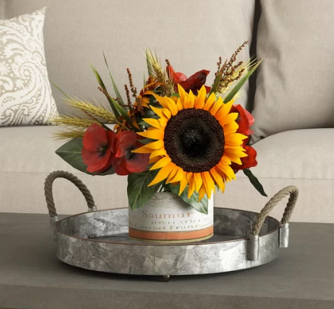 fall sunflower arrangement, fall flower arrangements