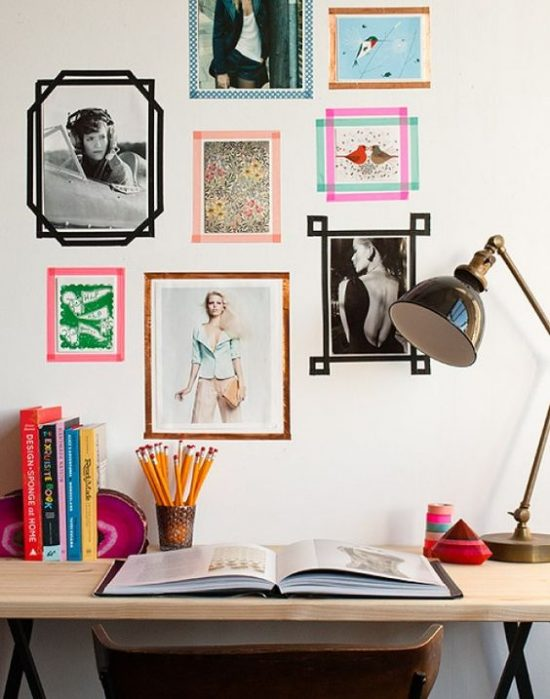 hanging pictures with wasabi tape