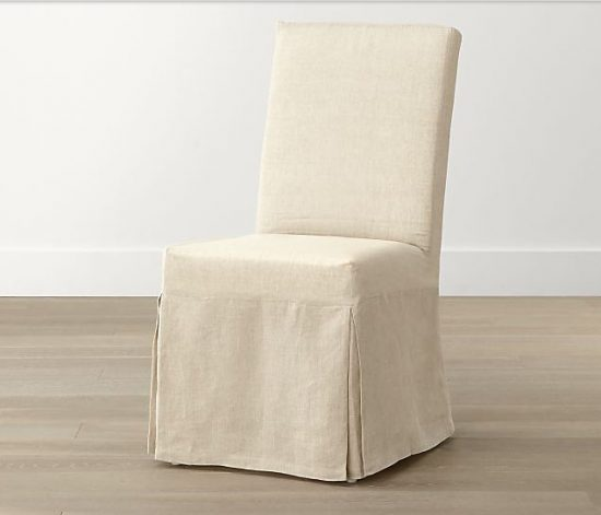 linen slipcover for dining chair