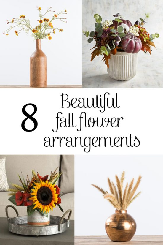 8 fall flower arrangements so beautiful you'd never guess they're not real! PIN