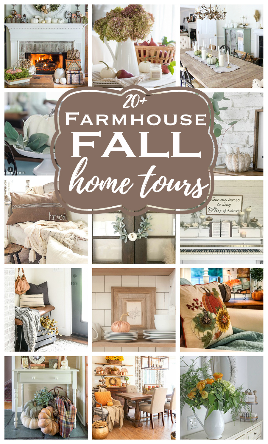 See over 20 homes of bloggers decked out in fall decor! Decorating for fall inspiration with the best budget ideas in many different styles.