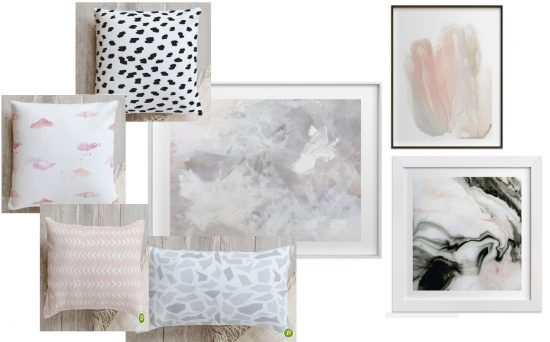 Minted Mixing art and pillows home decor