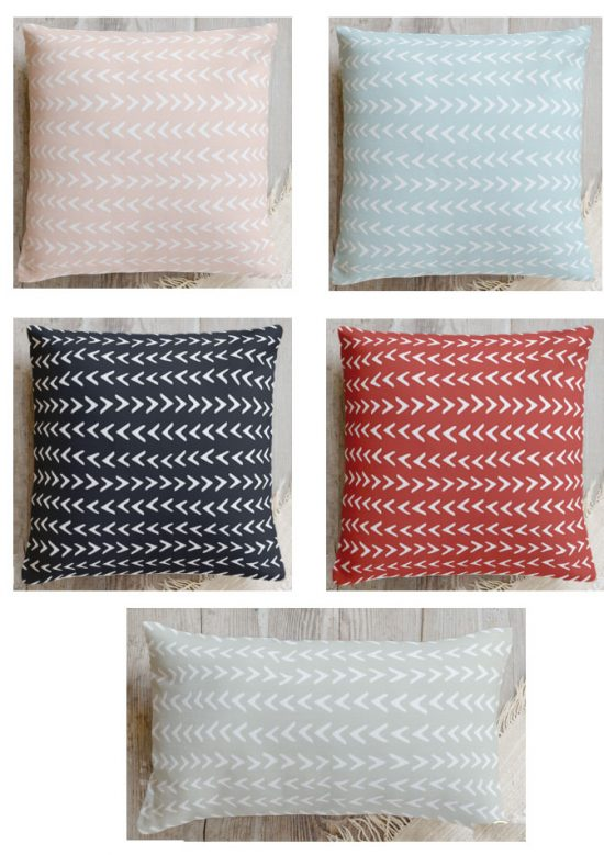 Minted pillow colors and sizes