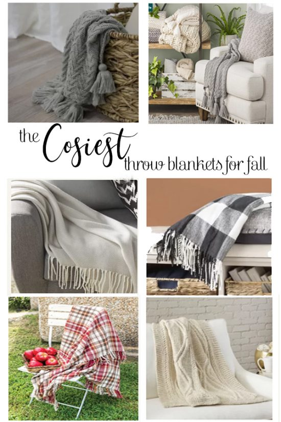 The Cosiest throw blankets for fall, you will love these!!