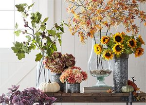 beautiful faux floral arrangements for fall FI