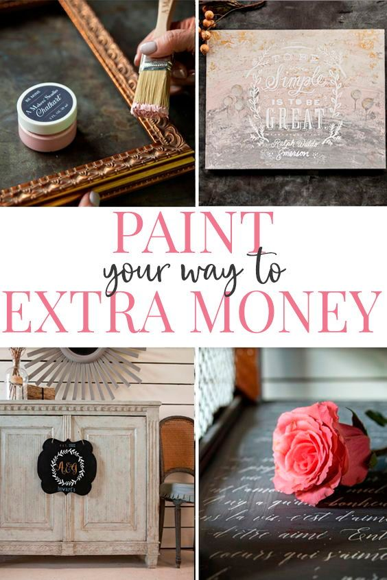 Do you love DIY and crafts? Learn how make money with simple crafts that turn a profit. #moneymakingideas #crafts #paintedfurniture