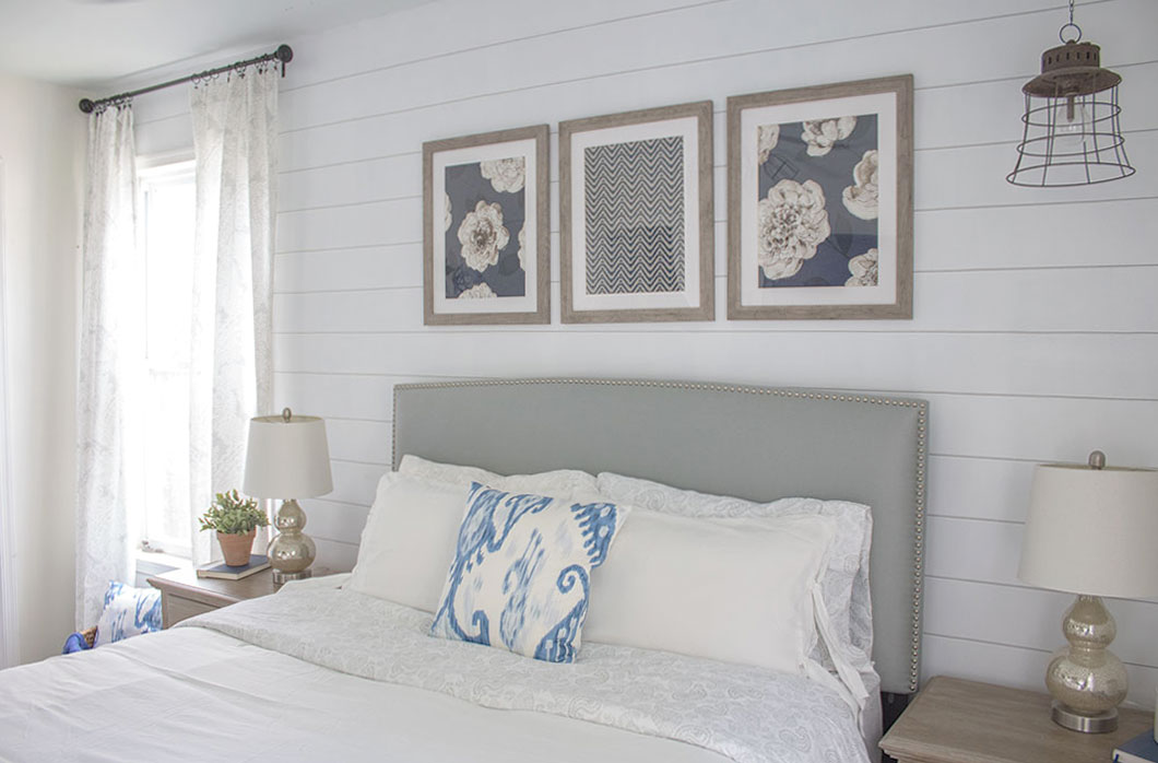 How To Paint A Shiplap Accent Wall