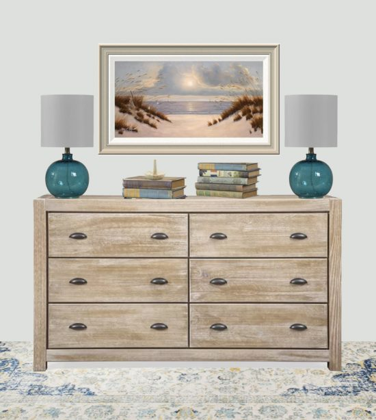 weathered wood dresser, coastal bedroom ideas,
