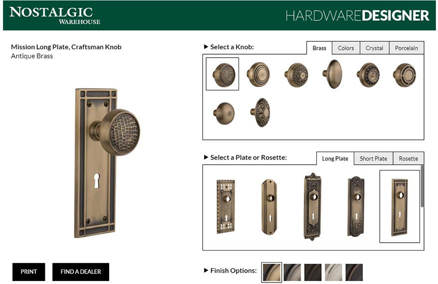 customizing mix and match doorknobs