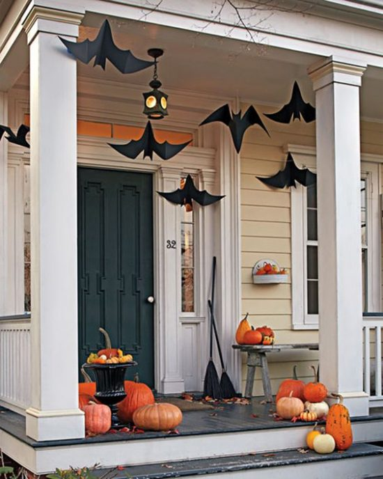 martha stewart fall front door halloween