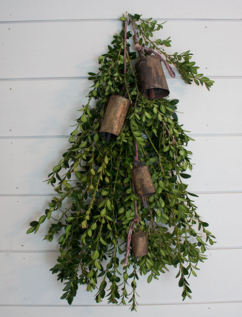 Christmas door decorations , how to make a swag