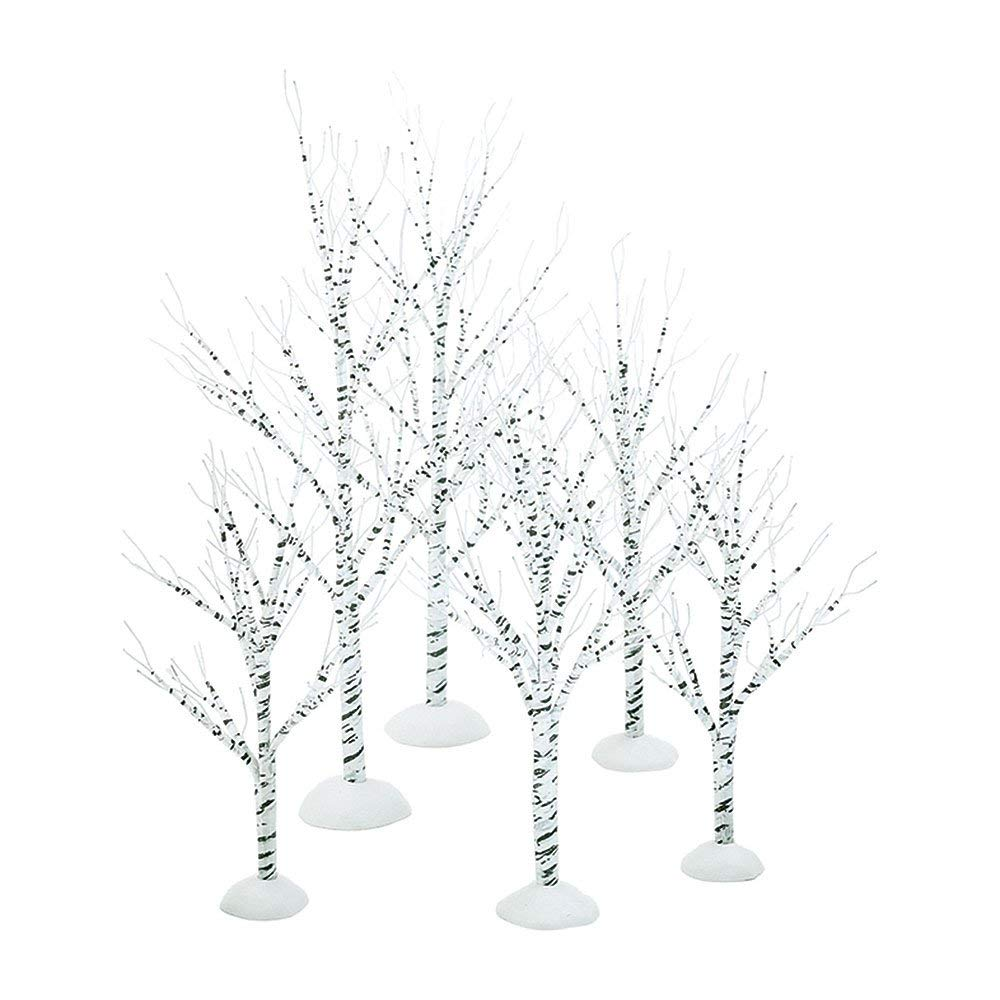 birch trees decorations are great for a winter wonderland