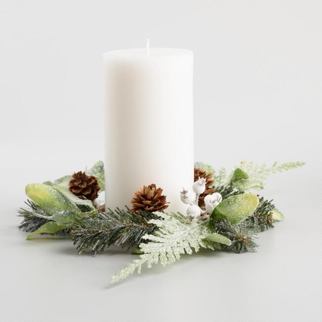 candle right greenery