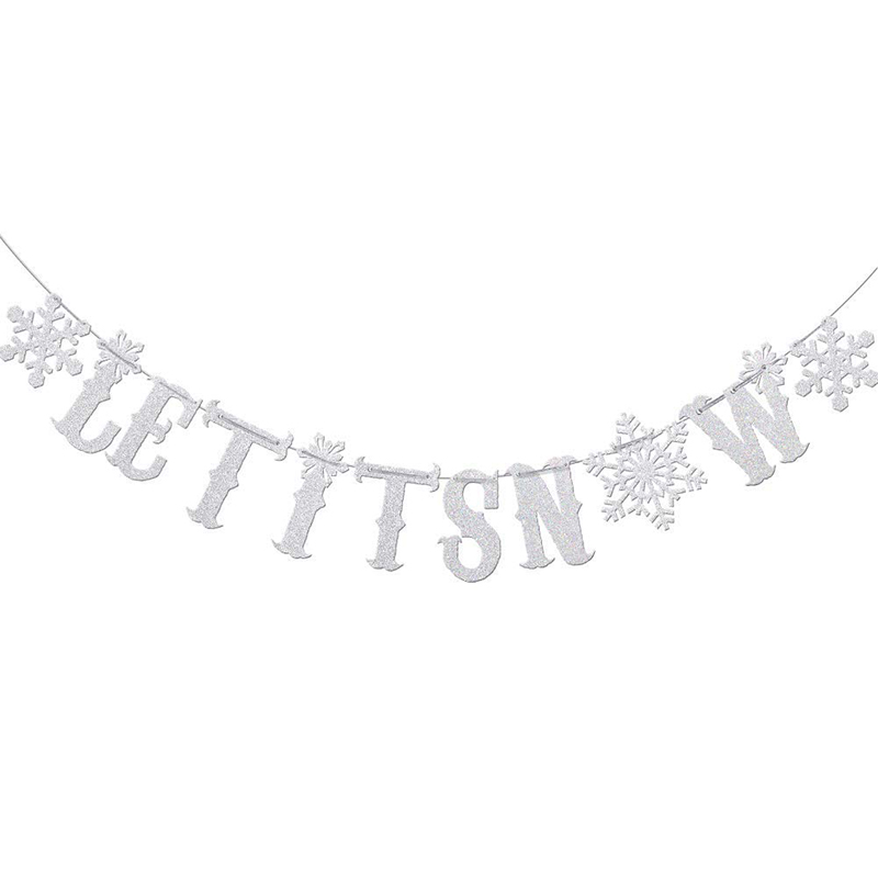 11 winter wonderland decorations let it snow banner