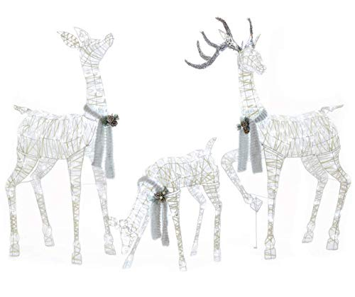 lighted deer for winter wonderland