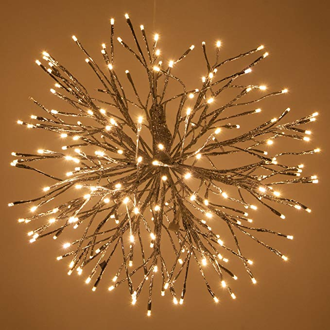 wood lighted star burst decoration