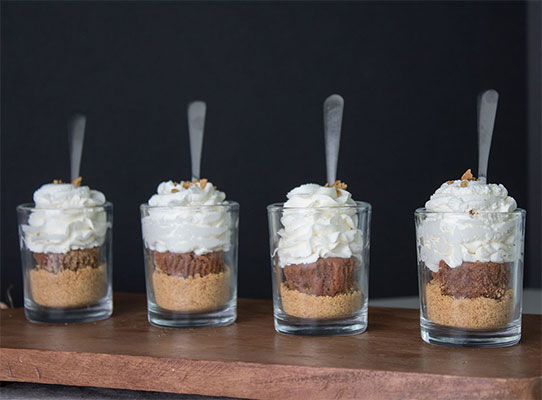 Chocolate Cheesecake Dessert Shooters