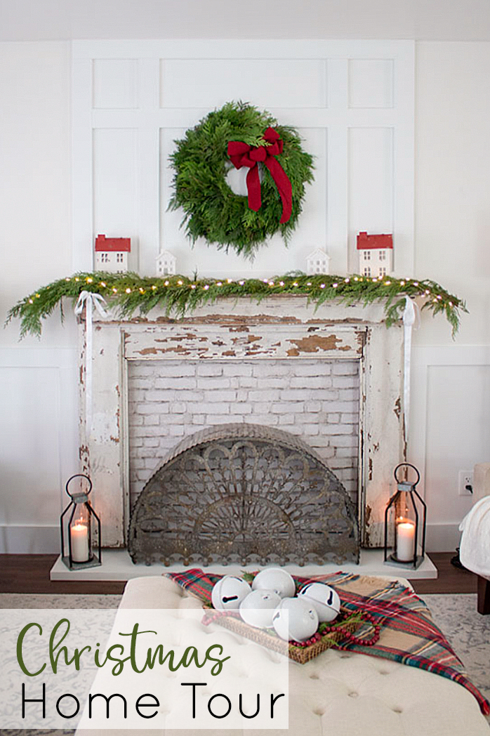 Traditional Christmas Mantel Decor Home Tour