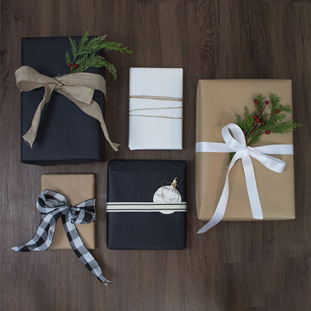 gift-wrapping-ideas-for Christmas, wrapping paper you can use even after the holidays