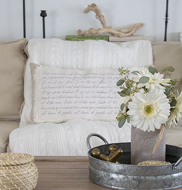 How to Make a Shabby Chic Throw Pillow Cover